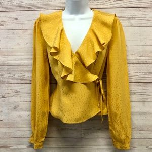 & Other Stories Ruffle Wrap Blouse